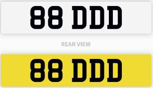 88 DDD number plate / car registration