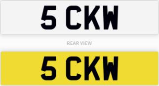 5 CKW number plate / car registration