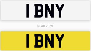 1 BNY number plate / car registration