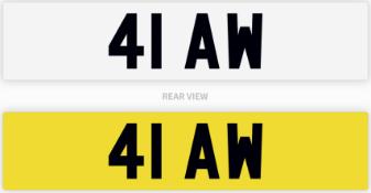 41 AW number plate / car registration