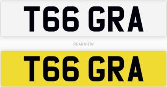 T66 GRA number plate / car registration