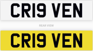 CR19 VEN number plate / car registration