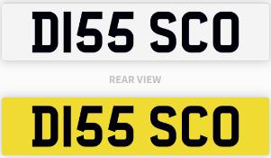 D155 SCO number plate / car registration