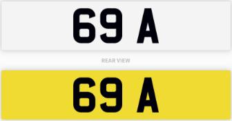 69 A number plate / car registration