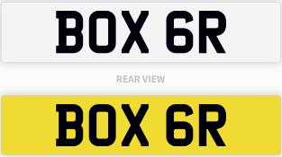 BOX 6R number plate / car registration