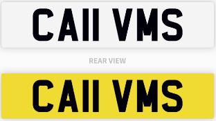CA11 VMS number plate / car registration
