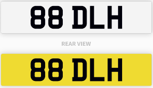 88 DLH number plate / car registration