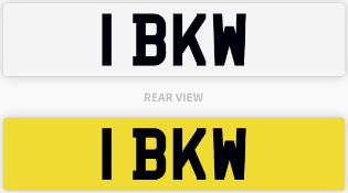 1 BKW number plate / car registration