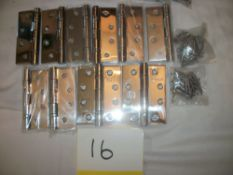 "10 x 4"" Ball Bearing Hinges with Screws"