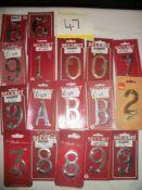17 x Various Numbers