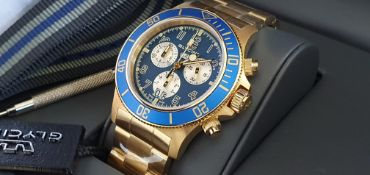 Glycine Gold Plated Watch