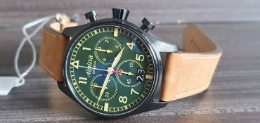 Alpina Green Chrono Brand New In Box With Papers