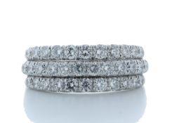 18ct White Gold Channel Set Semi Eternity Diamond Ring 1.61 Carats