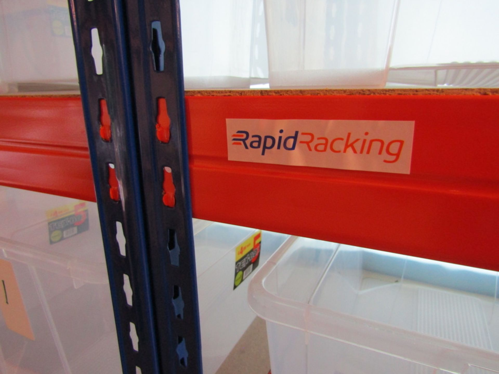 2 Bays of Racking with Storage Boxes. USED - Image 3 of 7