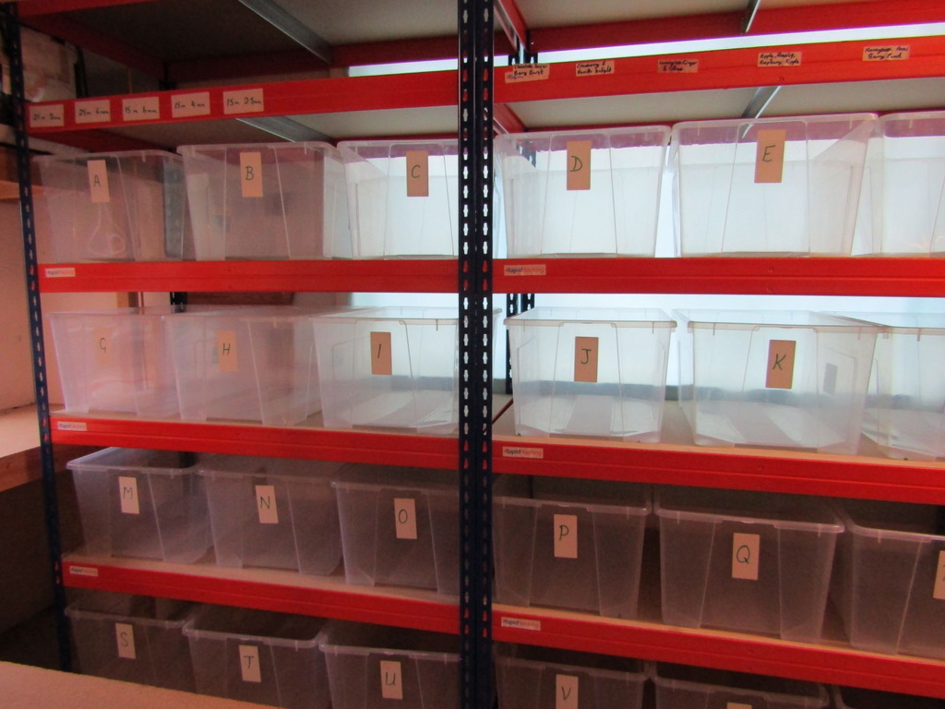 2 Bays of Racking with Storage Boxes. USED - Image 2 of 7