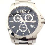 Longines / Conquest - Gentlemen's Steel Wrist Watch