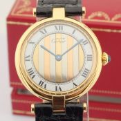 Cartier / Must De - Lady's Gold-plated Wrist Watch