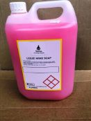 4 X 5L Bottles Of Industrial Strength Hand Soap Pink