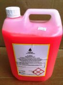 12 X 5L Bottles Of Industrial Strength Floral Disinfectant