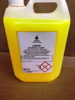 4 X 5L Bottles Of Industrial Strength Lemon Disinfectant