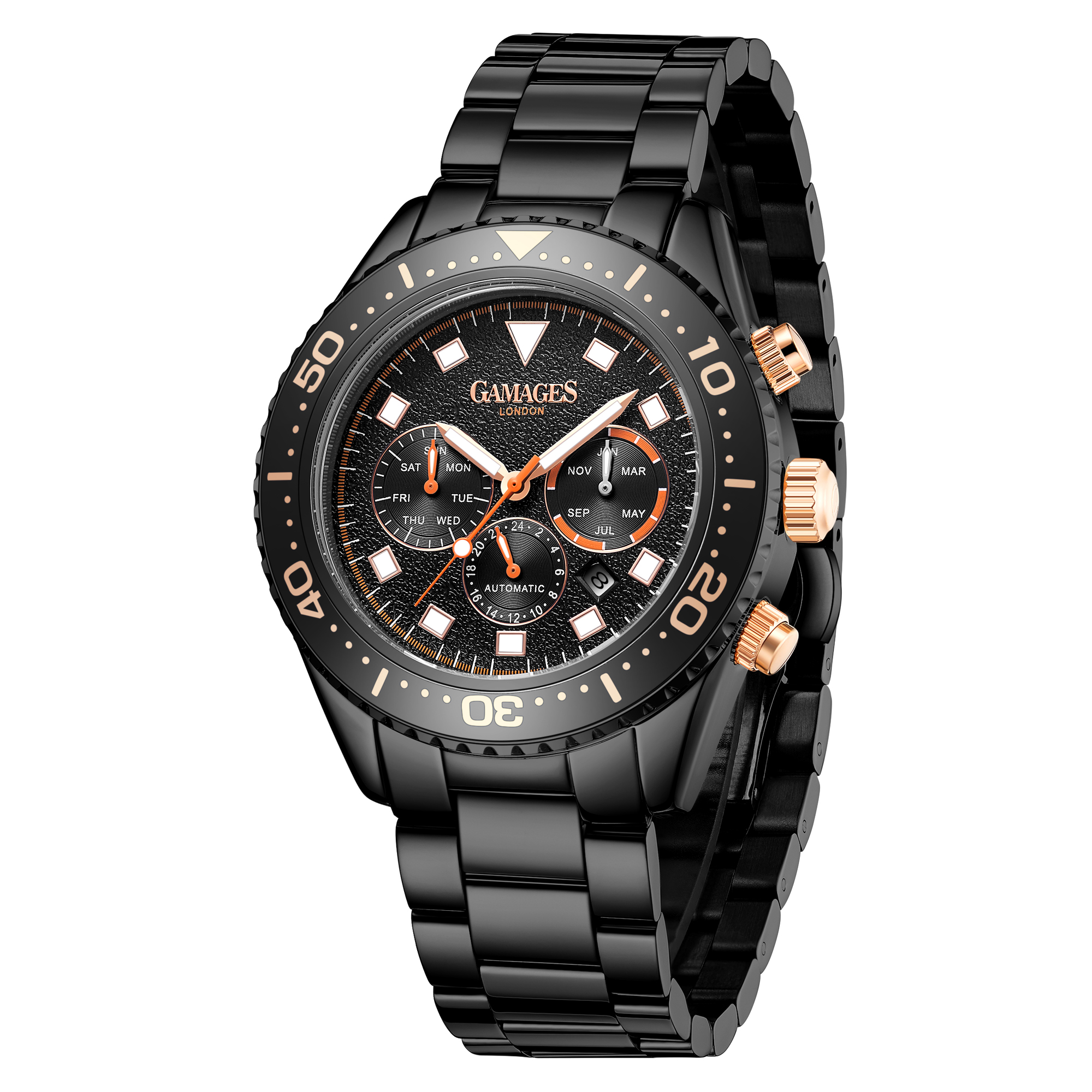 Limited Edition Hand Assembled GAMAGES Allure Automatic Black – 5 Year Warranty & Free Delivery - Image 3 of 4