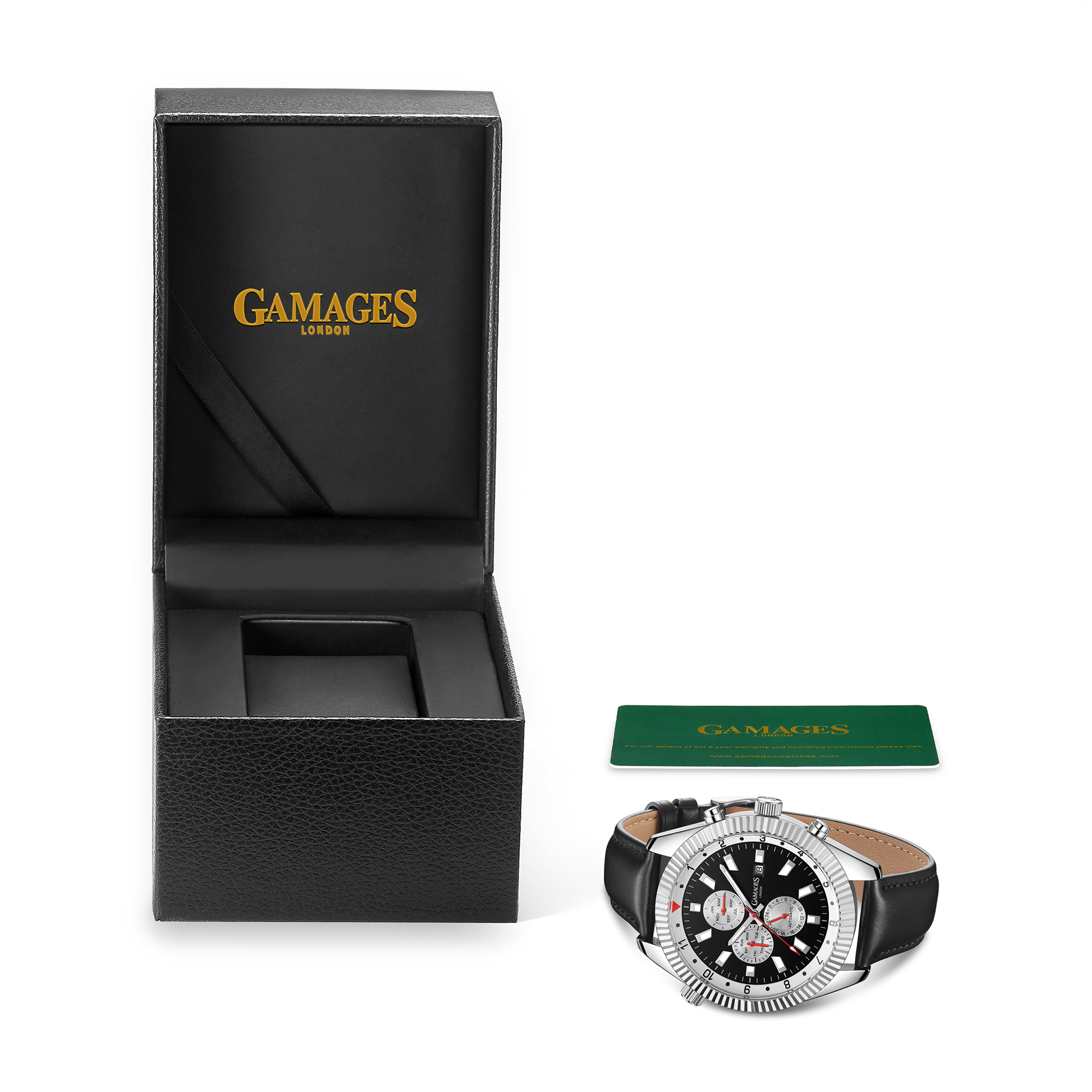 Ltd Edition Hand Assembled GAMAGES Hour Rotator Automatic Steel – 5 Year Warranty & Free Delivery - Image 2 of 5