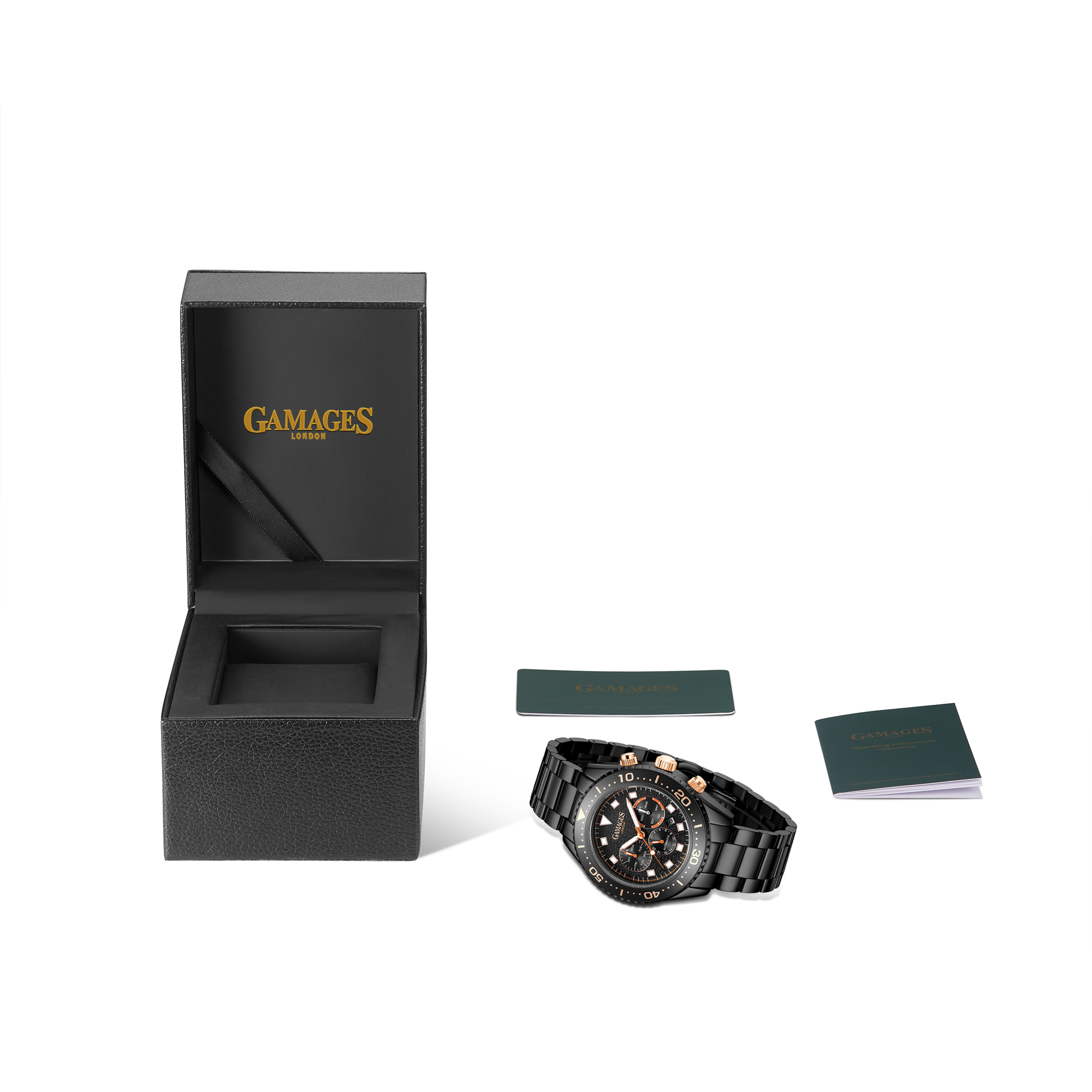 Limited Edition Hand Assembled GAMAGES Allure Automatic Black – 5 Year Warranty & Free Delivery - Image 2 of 4