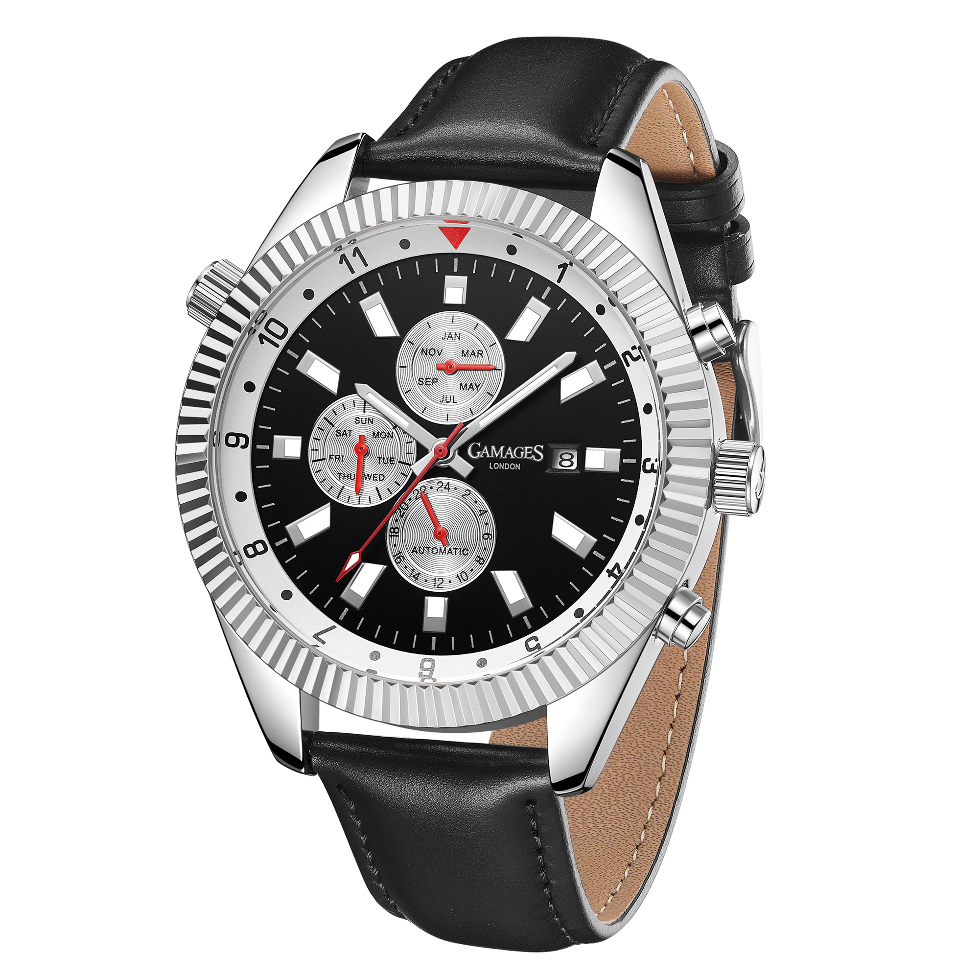 Ltd Edition Hand Assembled GAMAGES Hour Rotator Automatic Steel – 5 Year Warranty & Free Delivery - Image 5 of 5