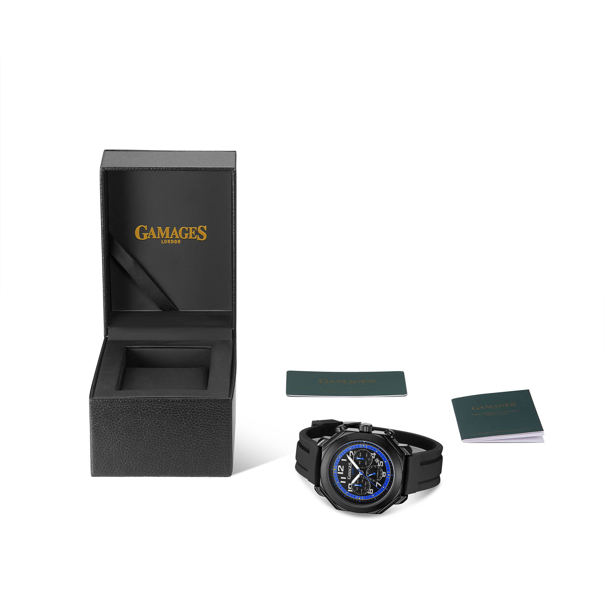 Ltd Edition Hand Assembled GAMAGES Contemporary Automatic Blue – 5 Year Warranty & Free Delivery - Image 2 of 4