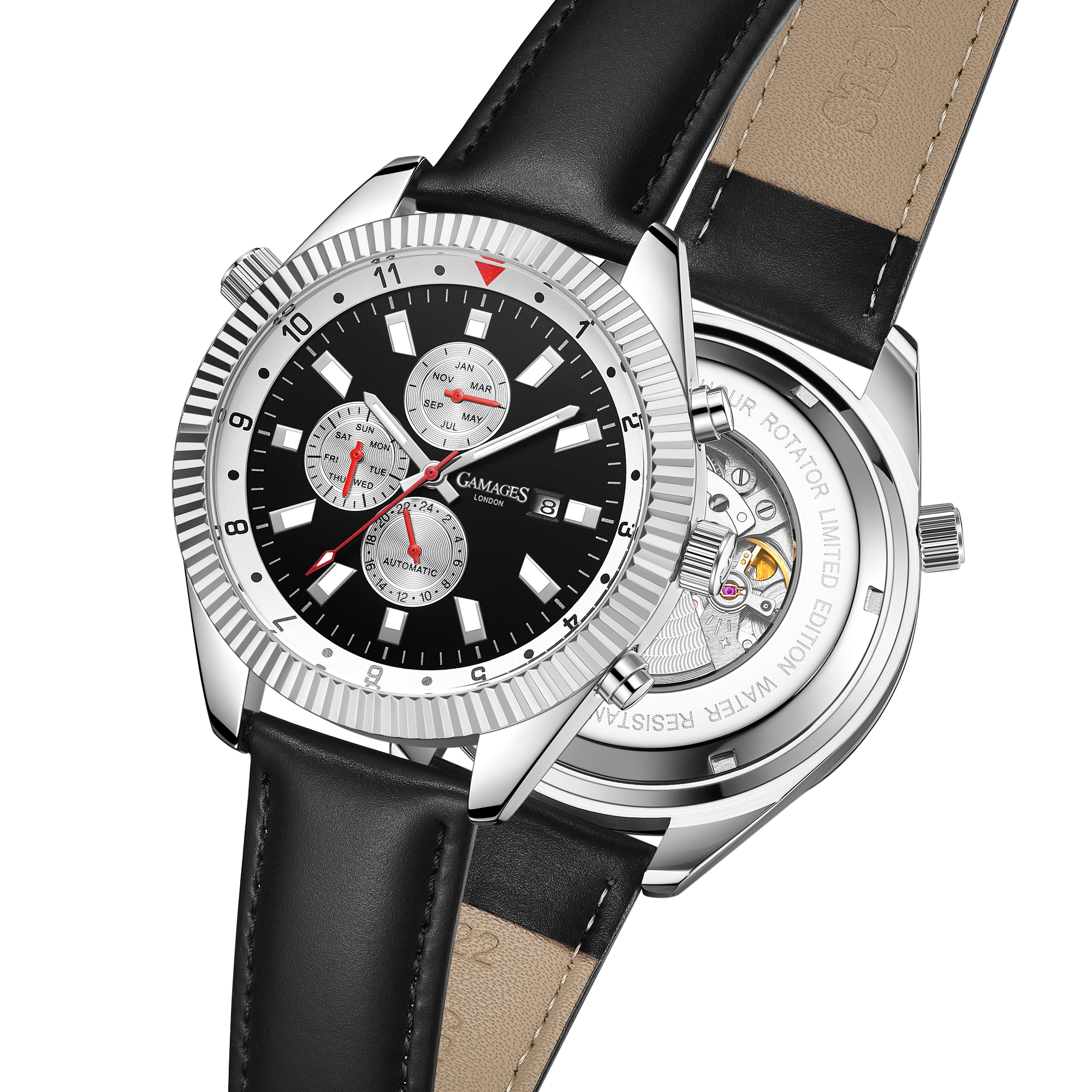 Ltd Edition Hand Assembled GAMAGES Hour Rotator Automatic Steel – 5 Year Warranty & Free Delivery - Image 3 of 5
