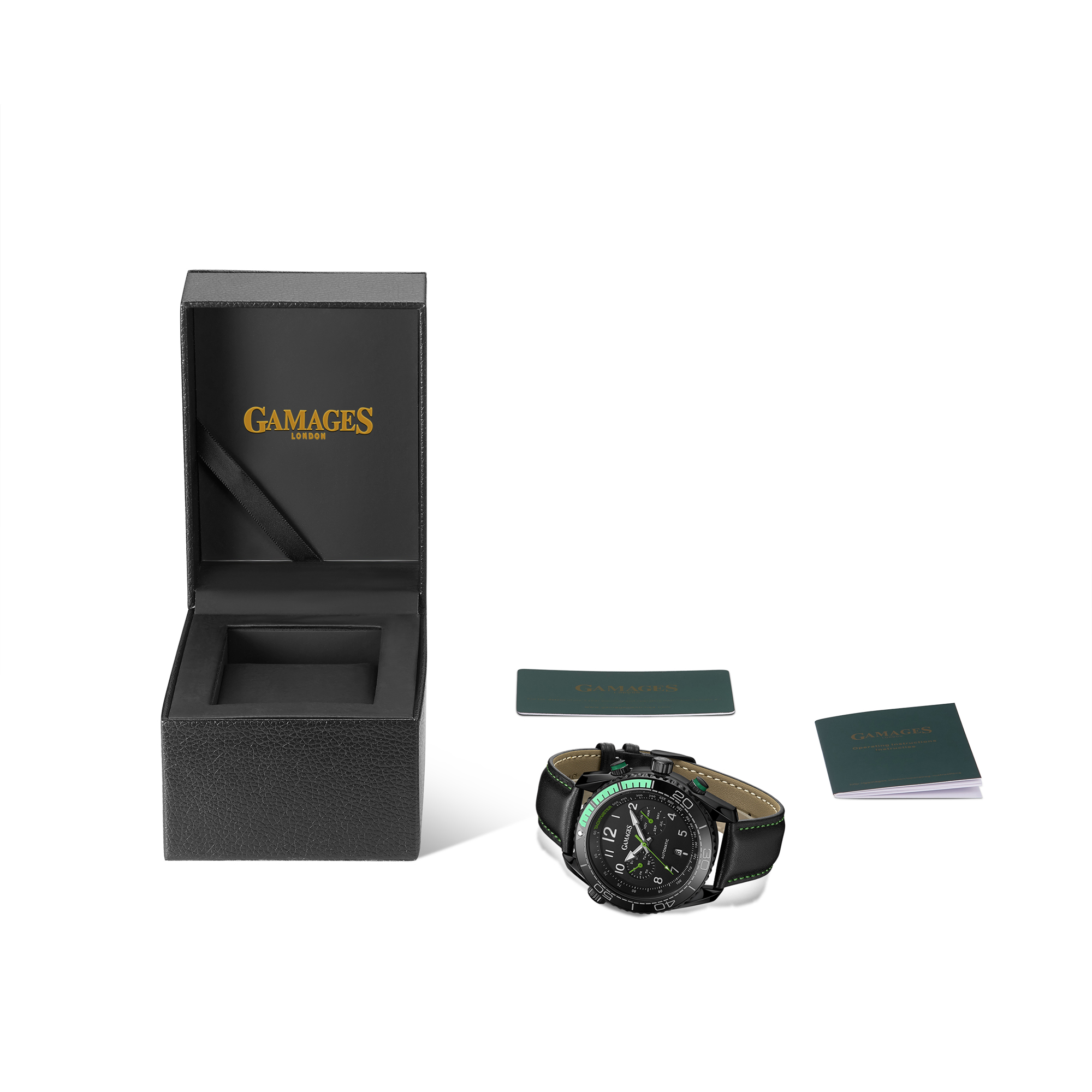 Limited Edition Hand Assembled GAMAGES Supreme Automatic Green – 5 Year Warranty & Free Delivery - Image 2 of 7
