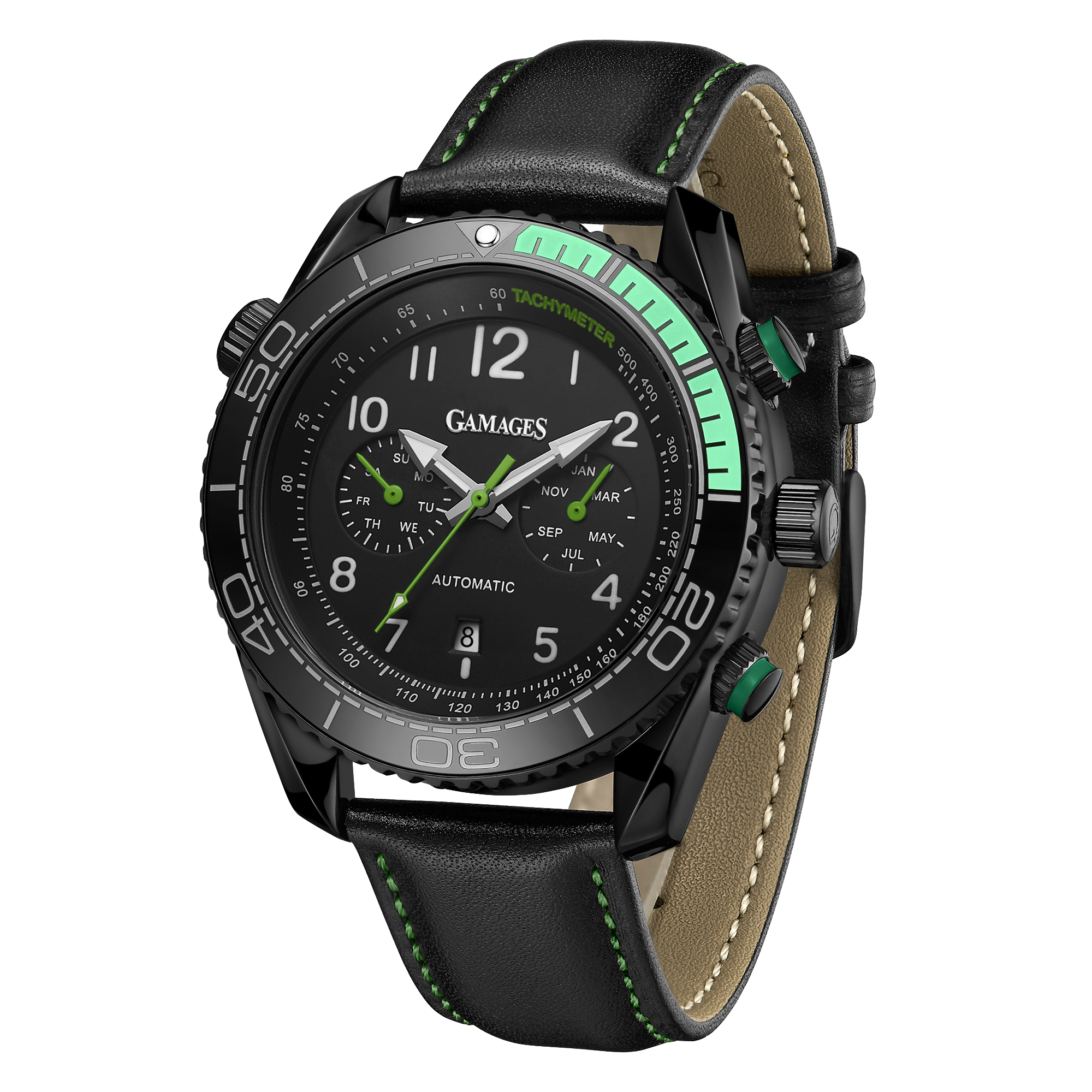 Limited Edition Hand Assembled GAMAGES Supreme Automatic Green – 5 Year Warranty & Free Delivery - Image 5 of 7