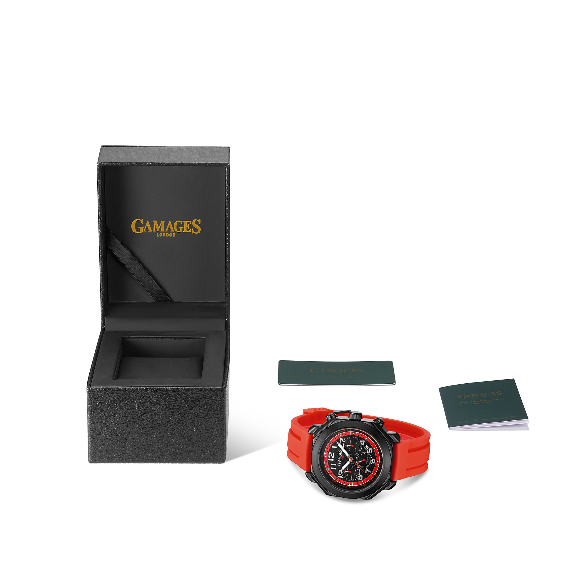 Limited Edition Hand Assembled GAMAGES Hour Timer Contemporary Red – 5 Year Warranty & Free Delivery - Image 3 of 5
