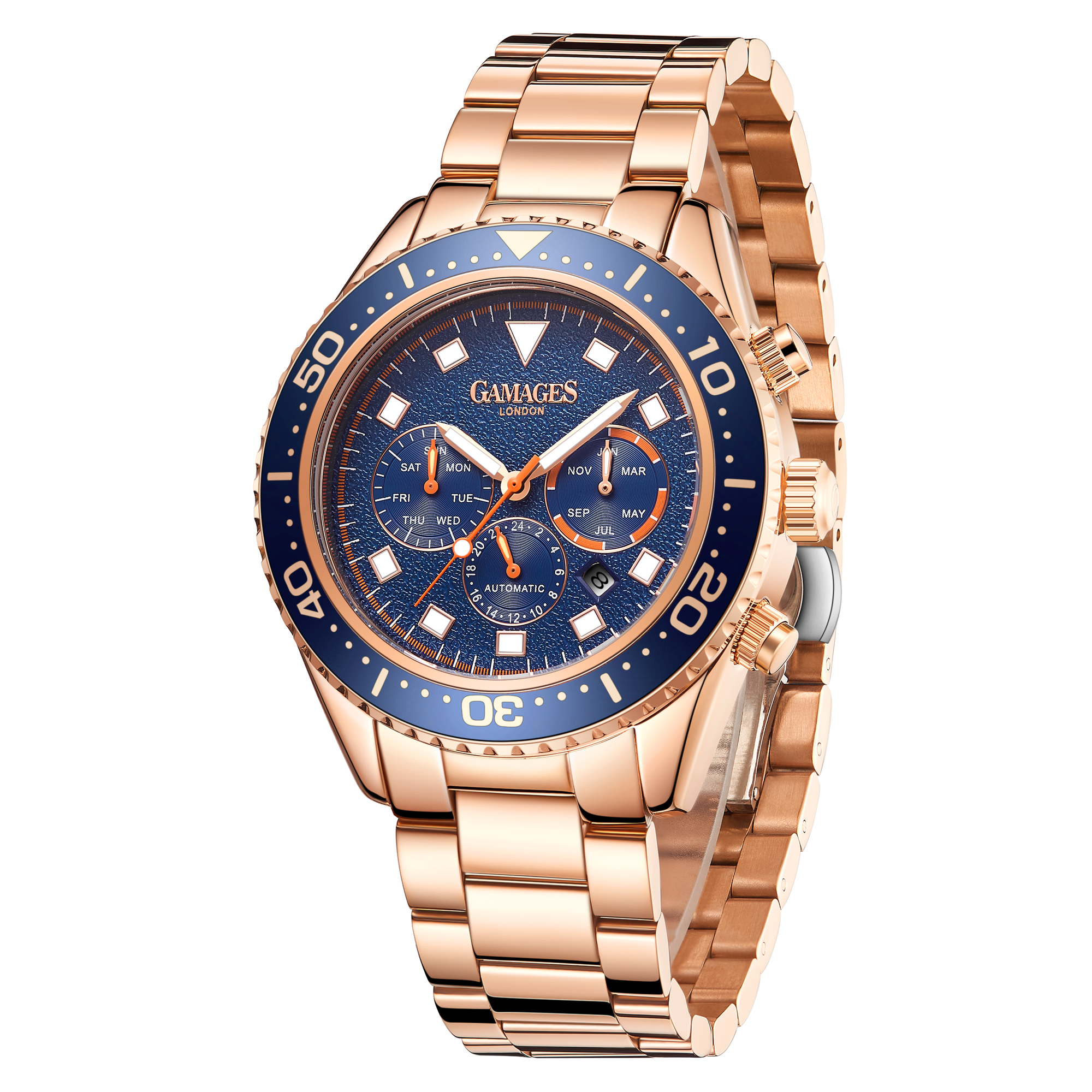 Limited Edition Hand Assembled GAMAGES Allure Automatic Rose – 5 Year Warranty & Free Delivery - Image 4 of 5