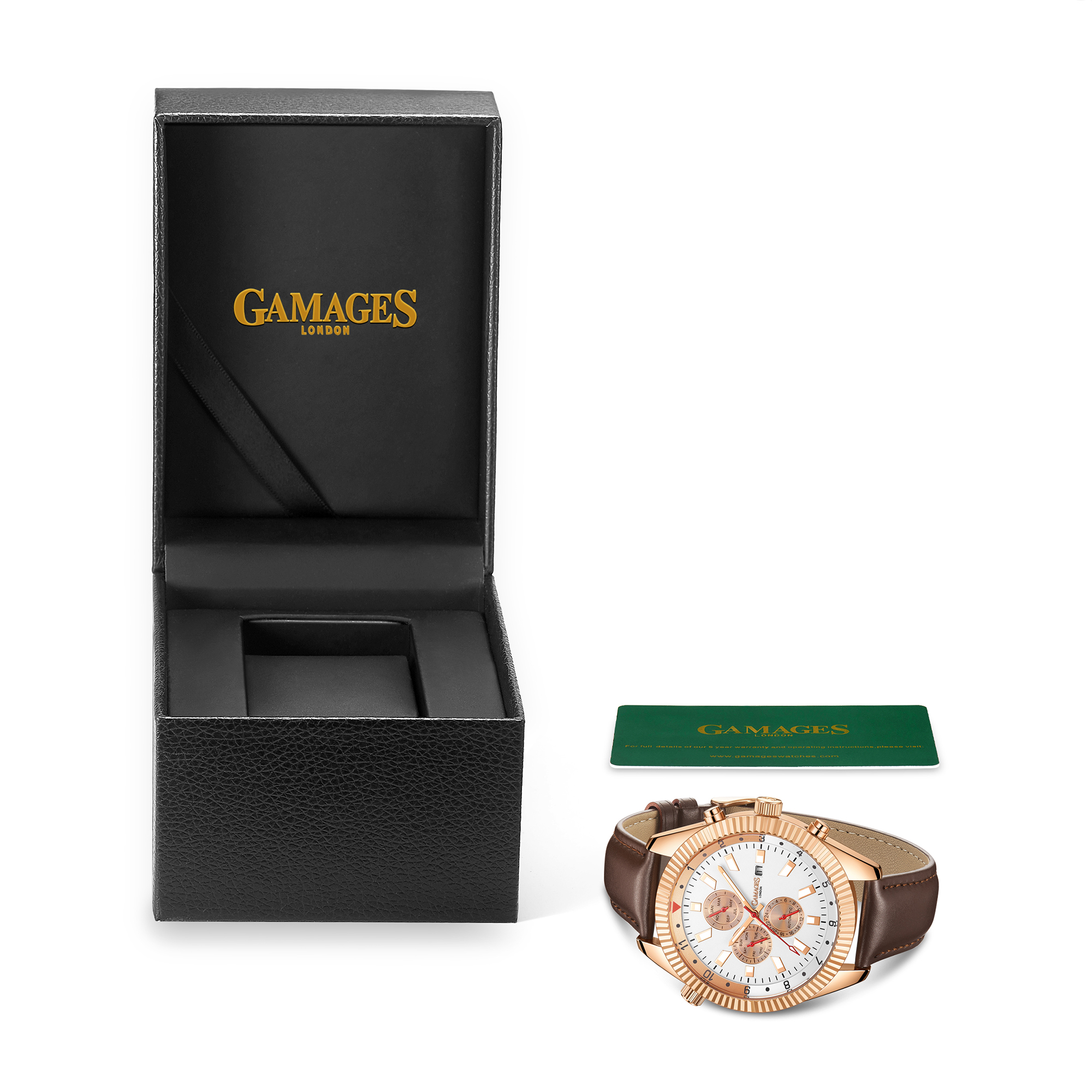 Limited Edition Hand Assembled GAMAGES Hour Rotator Automatic Rose – 5 Year Warranty & Free Delivery - Image 3 of 5