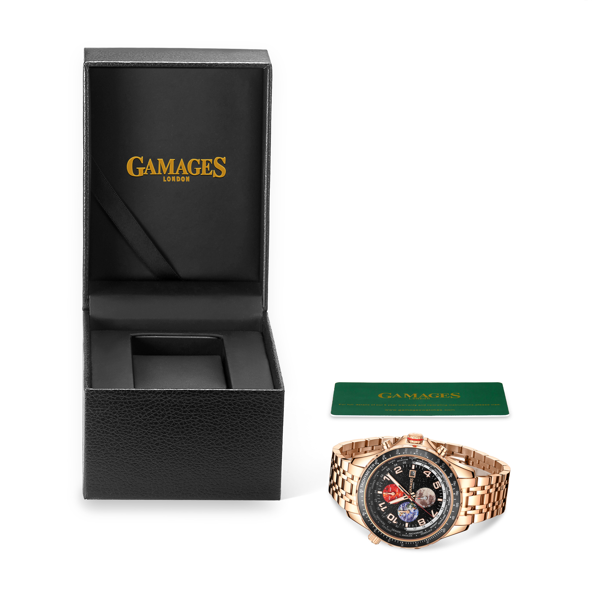 Limited Edition Hand Assembled GAMAGES Astronomer Automatic Rose – 5 Year Warranty & Free Delivery - Image 2 of 4