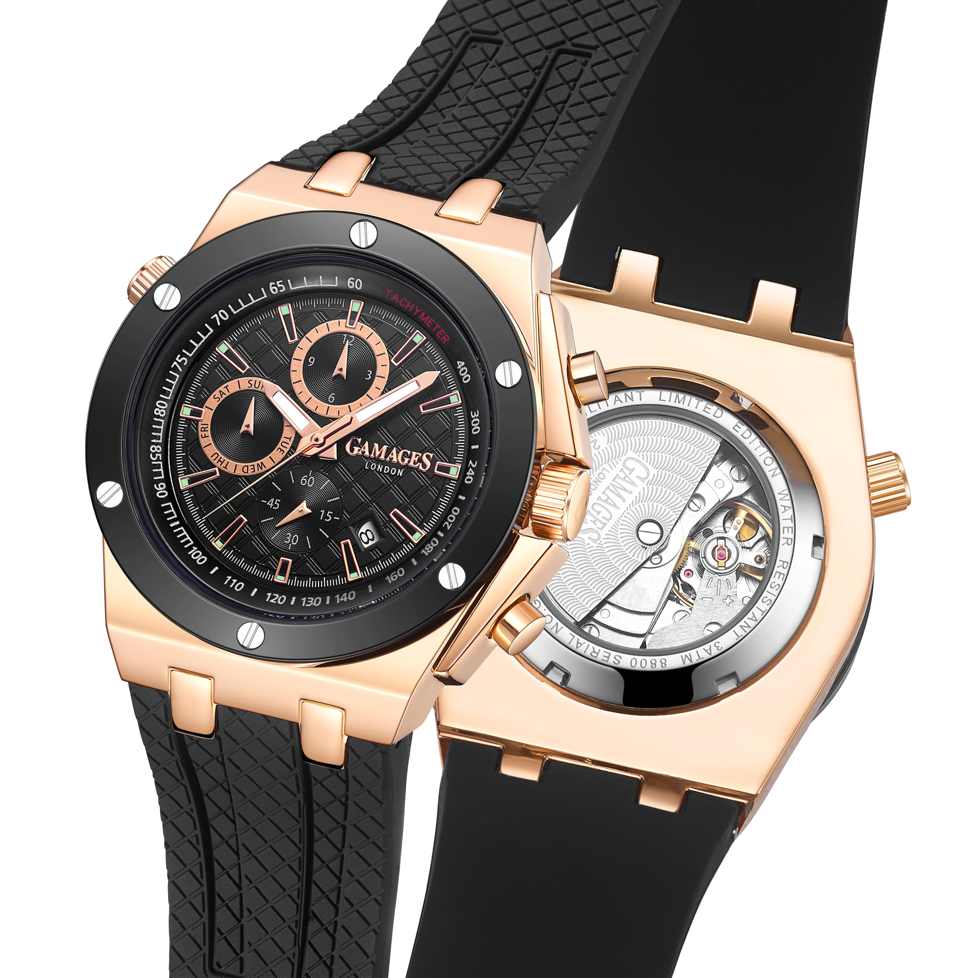 Limited Edition Hand Assembled GAMAGES Militant Automatic Rose – 5 Year Warranty & Free Delivery - Image 4 of 5
