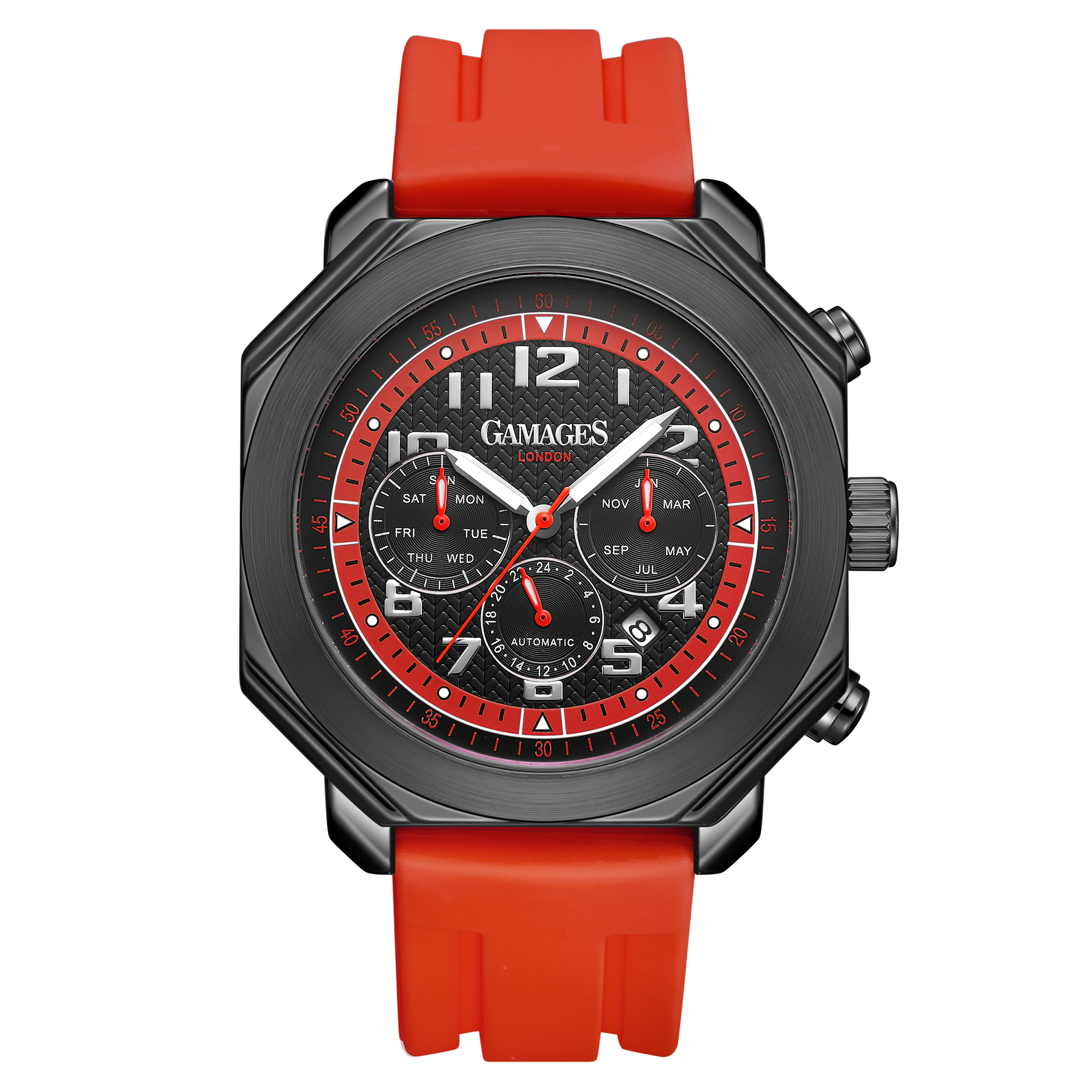 Limited Edition Hand Assembled GAMAGES Hour Timer Contemporary Red – 5 Year Warranty & Free Delivery