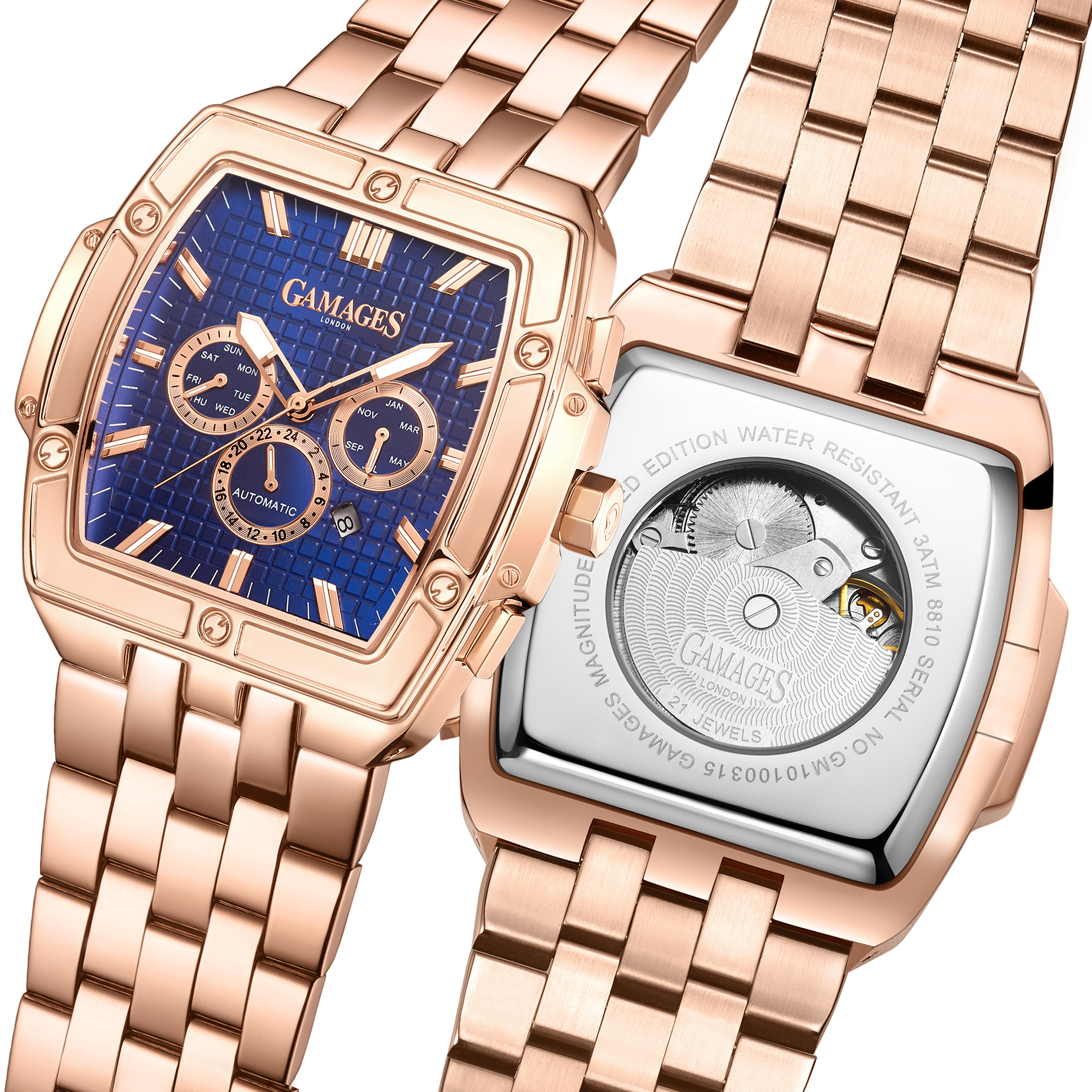 Limited Edition Hand Assembled GAMAGES Magnitude Automatic Rose – 5 Year Warranty & Free Delivery - Image 5 of 5