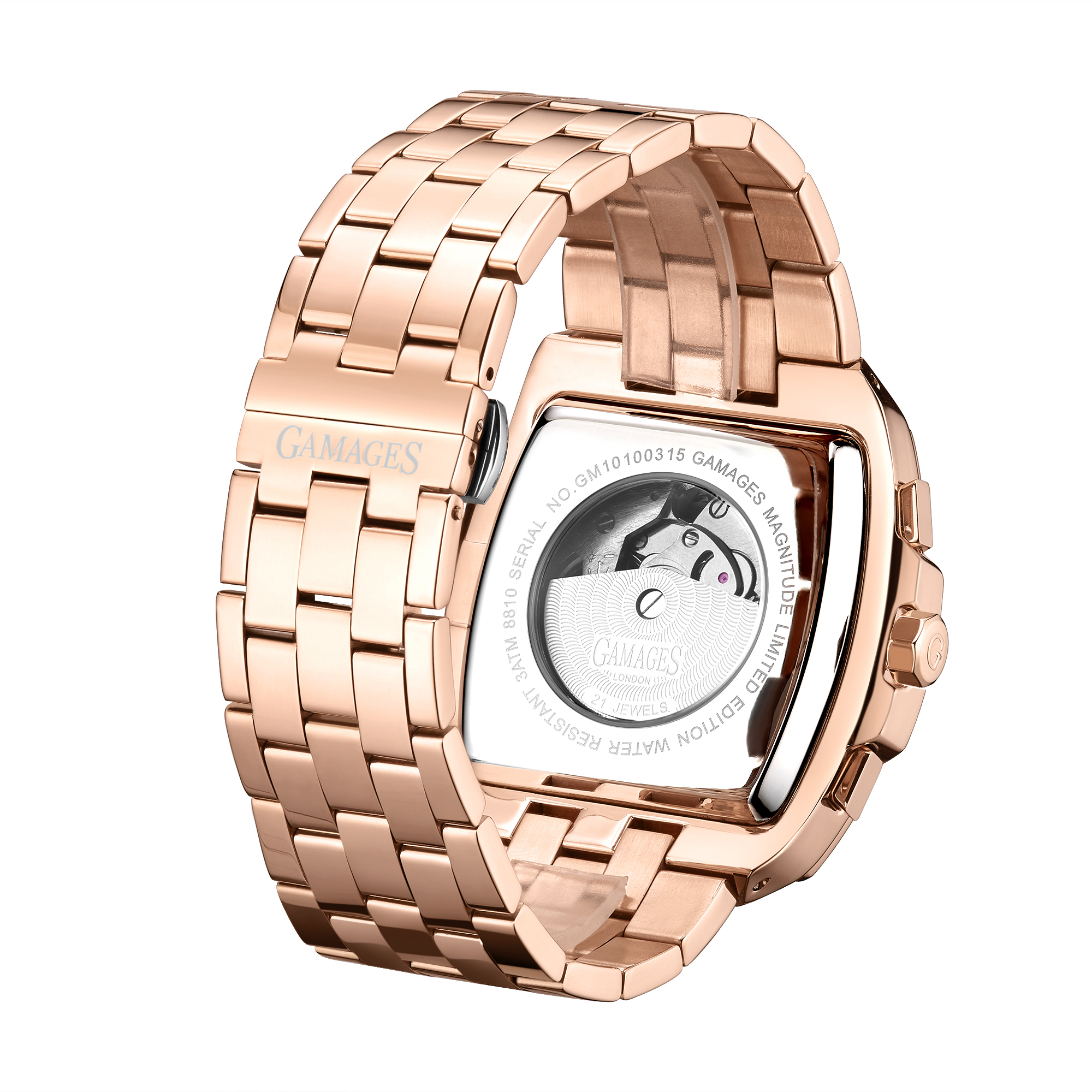 Limited Edition Hand Assembled GAMAGES Magnitude Automatic Rose – 5 Year Warranty & Free Delivery - Image 2 of 5