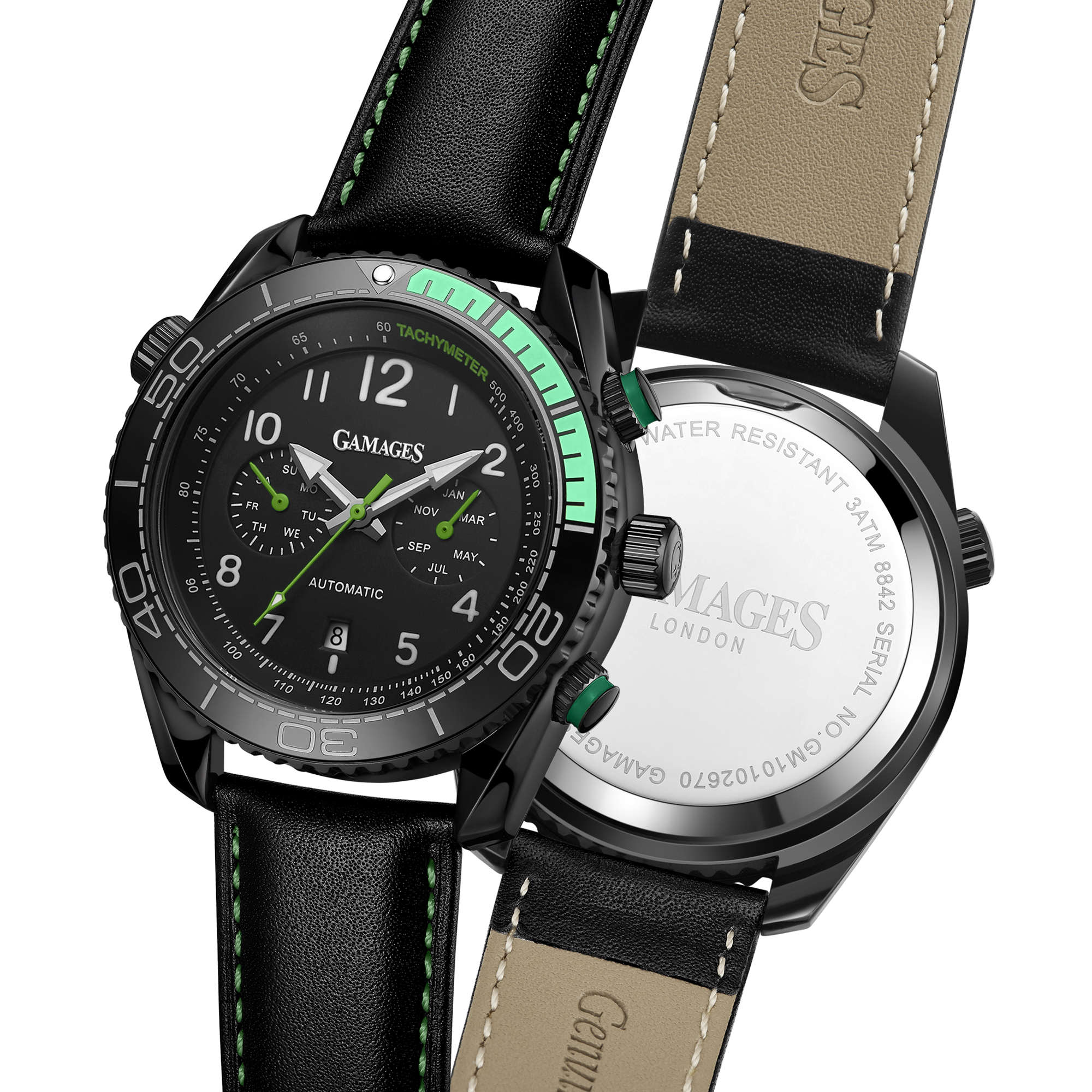 Limited Edition Hand Assembled GAMAGES Supreme Automatic Green – 5 Year Warranty & Free Delivery - Image 6 of 8