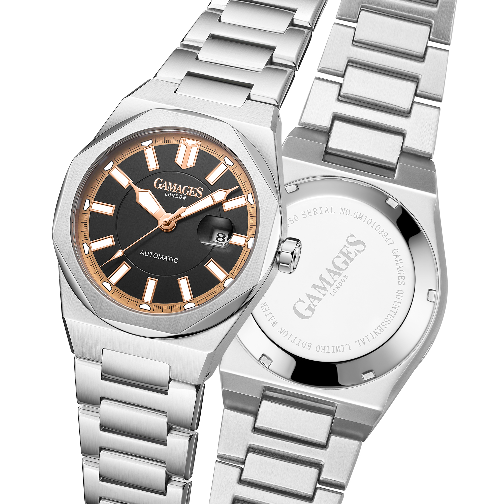 Ltd Edition Hand Assembled GAMAGES Quintessential Automatic Black – 5 Year Warranty & Free Delivery - Image 4 of 5