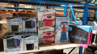 14 Items - 6 X Red5 USB Portable Air Conditioner, 4 X Cocktails Sign , 2 X Candy Floss \maker...