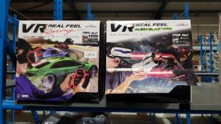 9 Items - 5 X VR Real Feel Racing & 4 X VR Real Feel Alien Blaster