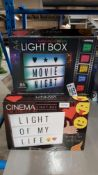 15 X Mixed Style Cinema Light Box