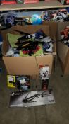 Contents Of Large Box - Mixed Lot To Include Stealth Crossbow, Volcano Light, Soft Touch Powe...