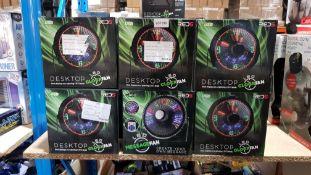 25 X Red5 Desktop LED Clock / Message Fan