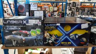 12 Items - 6 X Laser X Infrared Gaming Experience & 6 X Lazer M.A.D Battle Ops
