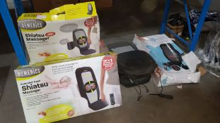 7 Items - Mixed Maddage Items To Include 3 X Homedics Extended Track Shiatsu Massager With He...