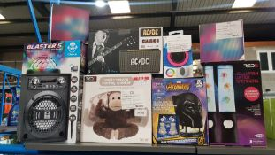 9 items - Mixed Speaker Lot To Include iDance Blaster 5 Party Box Speaker System, AC/DC Class...